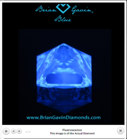 diamond fluorescence courtesy of briangavindiamonds.com