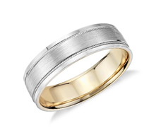 Wedding Band Surface Textures and Widths 6