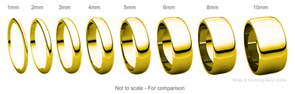 Wedding Band Surface Textures and Widths 7