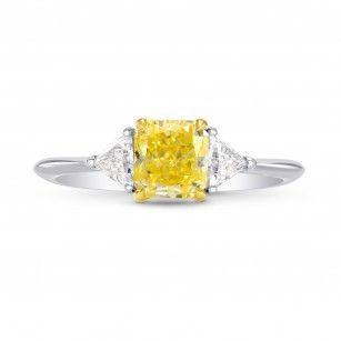 Yellow Gold Prongs on a Yellow Diamond