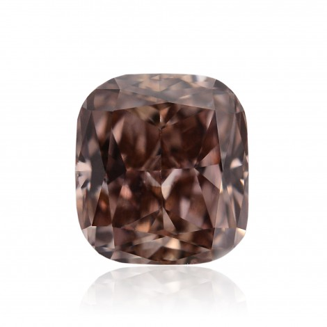 0.69 carat, Fancy Dark Pink Brown, Radiant shape Diamond