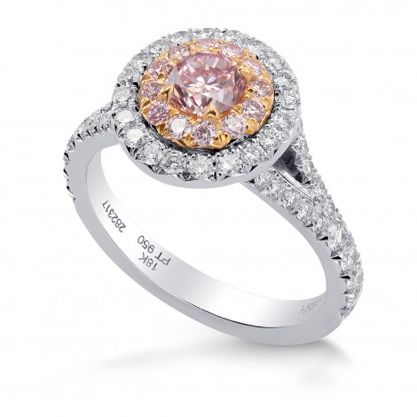 Fancy Intense Pink Round Diamond Halo