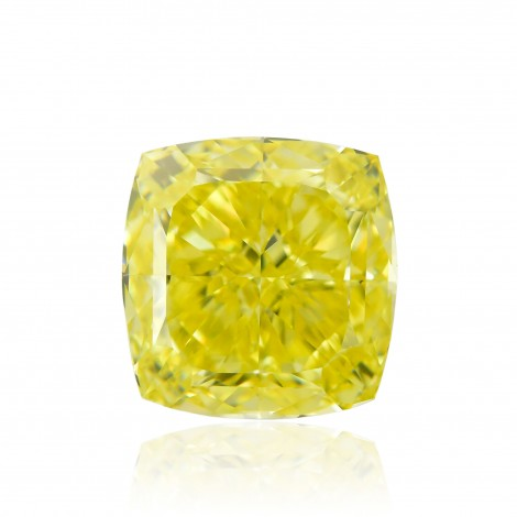3.87 carat, Fancy Intense Yellow